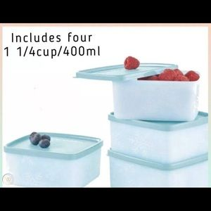 Tupperware Freeze It Plus small square set of 4